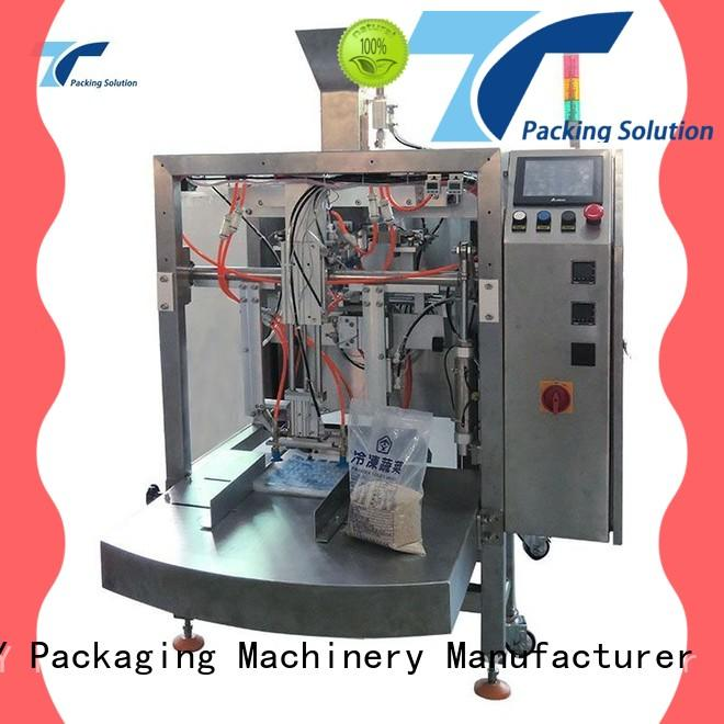 adjustable pouch packing machine manufacturer side from China for bag outfeed