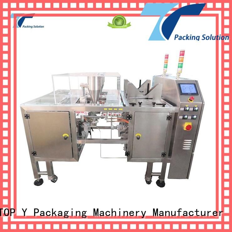 TOP Y Packaging Machinery Manufacturer pouch pouch filling and sealing machine directly sale for bag outfeed