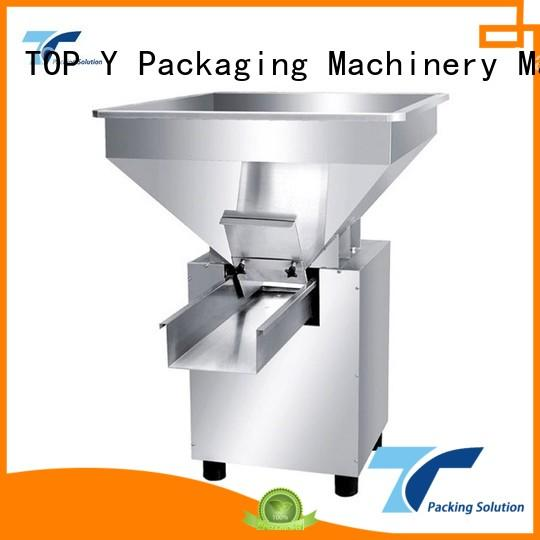 low cost professional feeder auxiliary vertical form fill seal packaging machines TOP Y Packaging Machinery Manufacturer Brand company