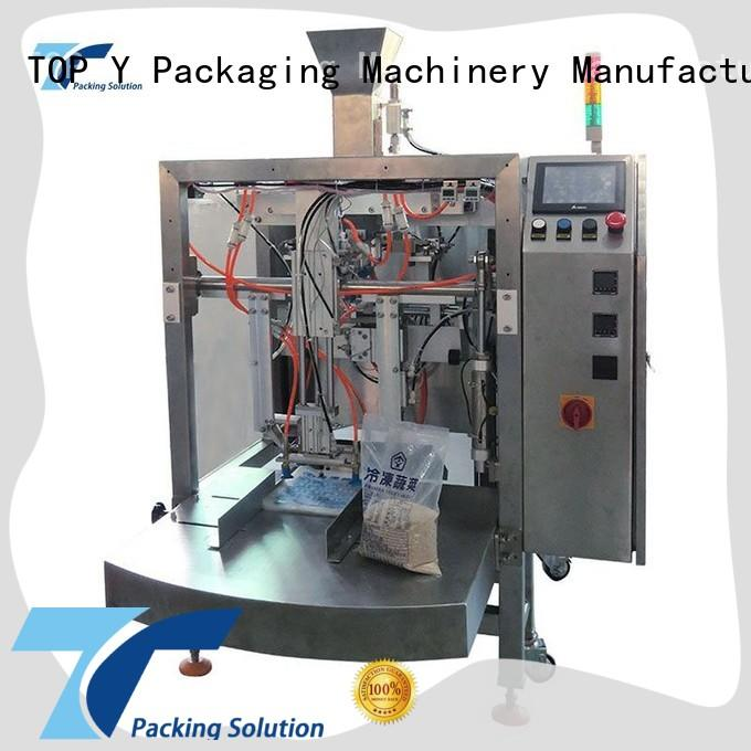 TOP Y Packaging Machinery Manufacturer bags pouch packing machine from China for bag outfeed