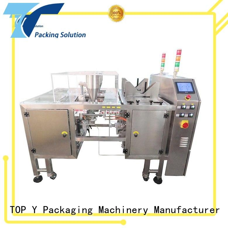 standing pouch packaging machine gusset for bag outfeed TOP Y Packaging Machinery Manufacturer