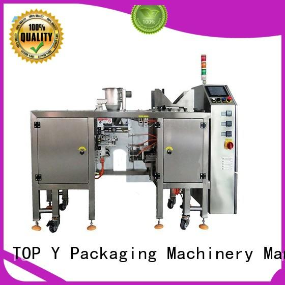 TOP Y Packaging Machinery Manufacturer hot selling pouch filling packing machine stand for bag outfeed