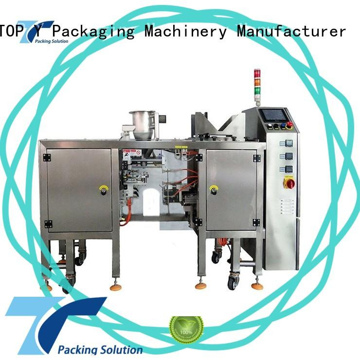 TOP Y Packaging Machinery Manufacturer bags zipper pouch packing machine manufacturer for bag outfeed