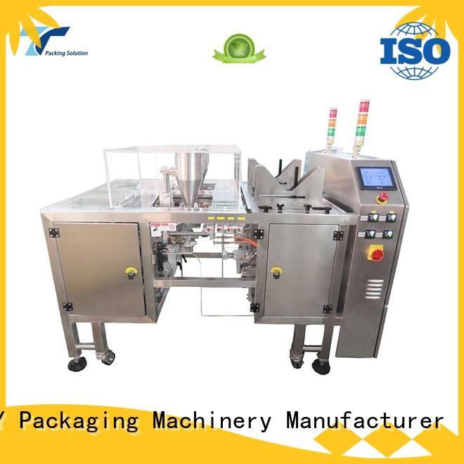 adjustable pouch filling and sealing machine from China for bag outfeed