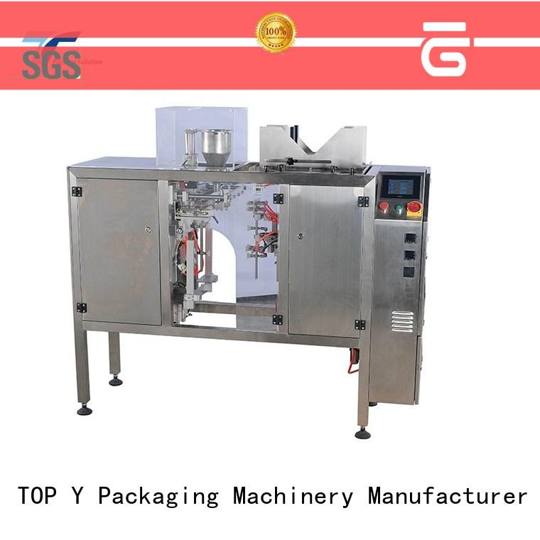 TOP Y Packaging Machinery Manufacturer adjustable fully automatic pouch packing machine mini for bag outfeed