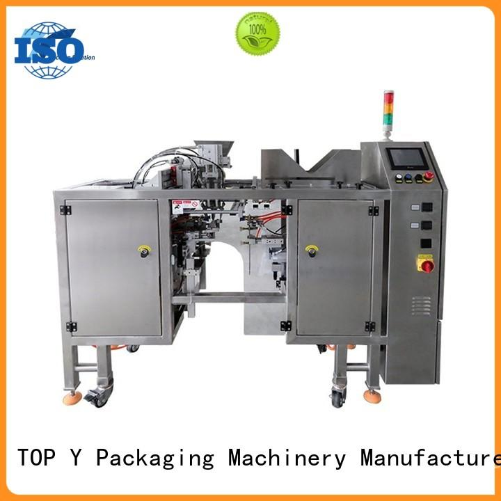TOP Y Packaging Machinery Manufacturer zipper stand pouch packing machine price from China for bag sealing