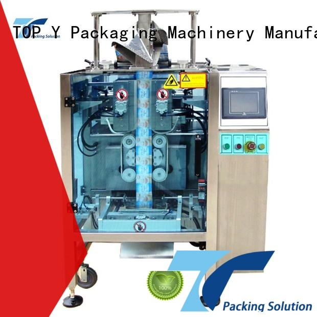 TOP Y Packaging Machinery Manufacturer vertical vffs packaging machine design for bag outfeed
