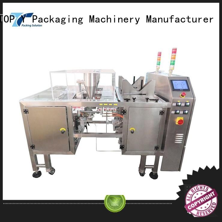 TOP Y Packaging Machinery Manufacturer top pouch filling and sealing machine customized for bag outfeed