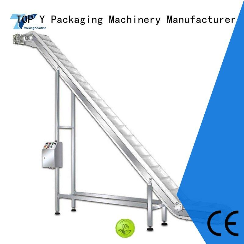 TOP Y Packaging Machinery Manufacturer acclivitous mini packaging machine auxiliary factory price for bag outfeed