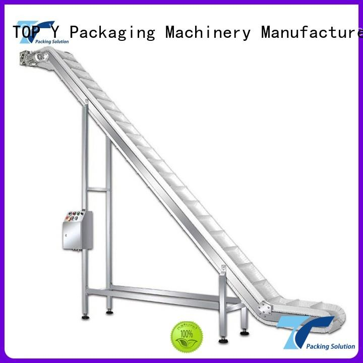 acclivitous professional feeder OEM auxiliary vertical form fill seal packaging machines TOP Y Packaging Machinery Manufacturer