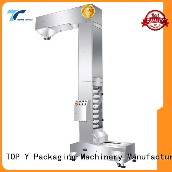 TOP Y Packaging Machinery Manufacturer design auxiliary form fill seal machine manufacturer supplier for bag outfeed