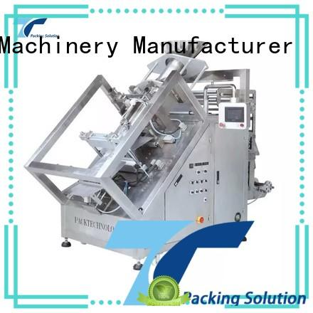 vertical packaging automation equipment quad design for bag sealing