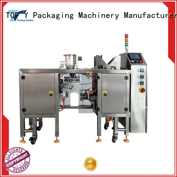 TOP Y Packaging Machinery Manufacturer adjustable premade pouch packing machine top for bag making