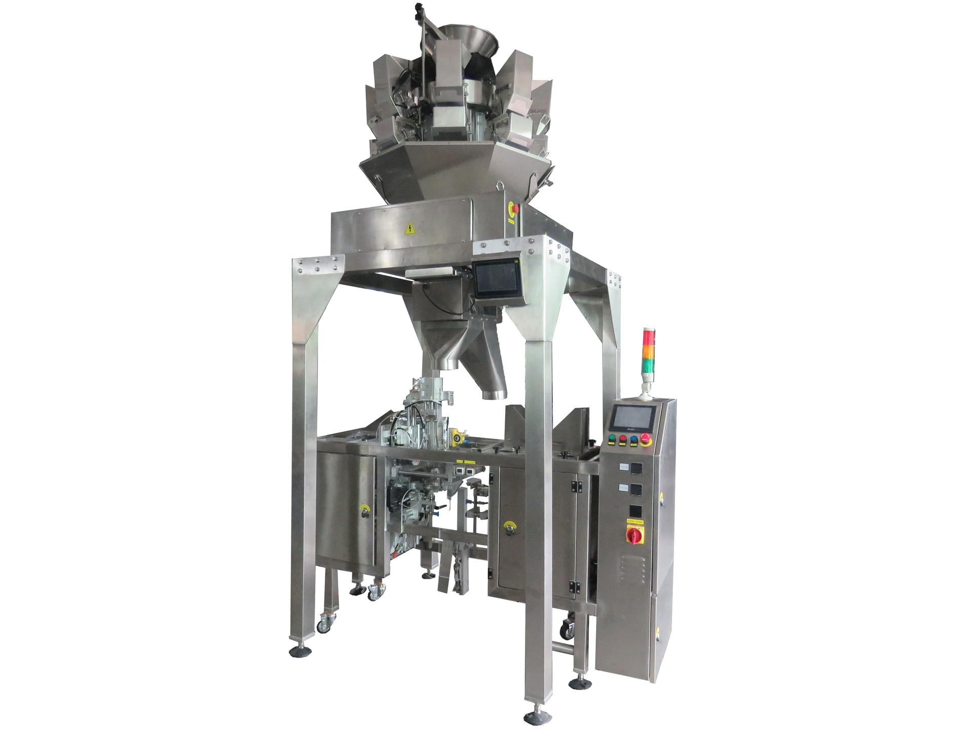 Mini doypack machine with multihead weigher