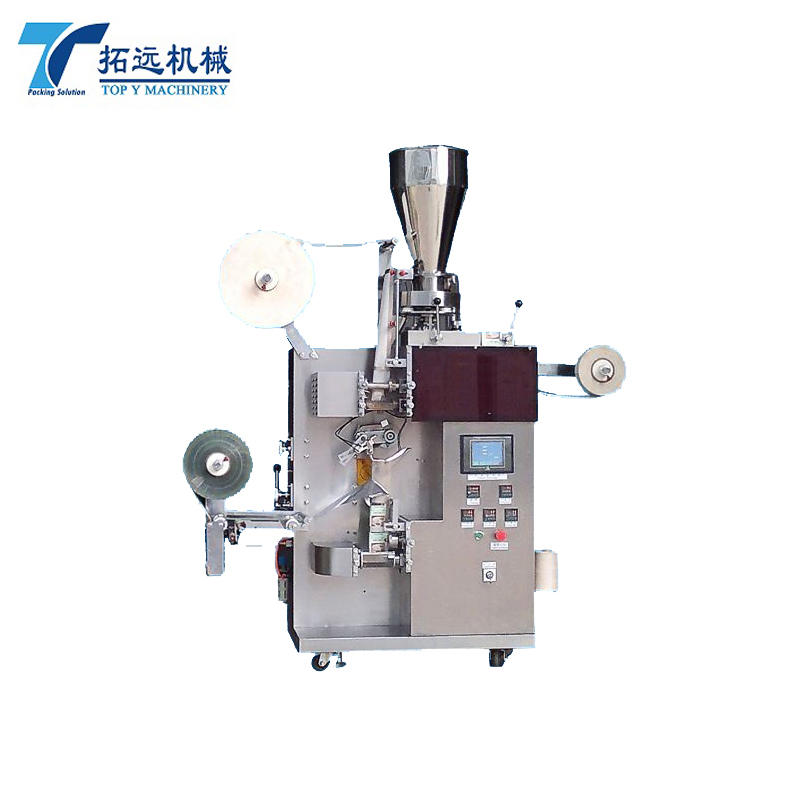 AUTOMATIC INNER AND OUTER TEA BAG PACKING MACHINE WIH THREAD AND TAG