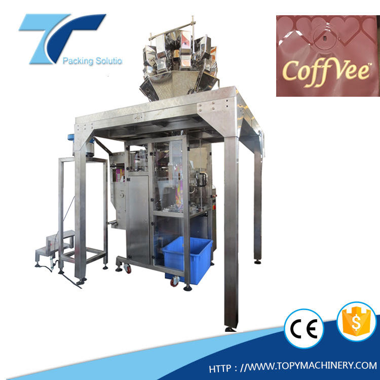 VFFS packaging machine and valve bag applicator